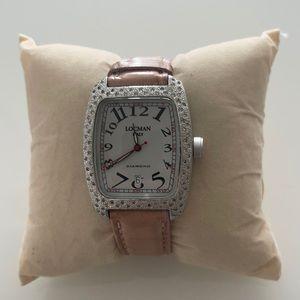Locman diamond watch with alligator band